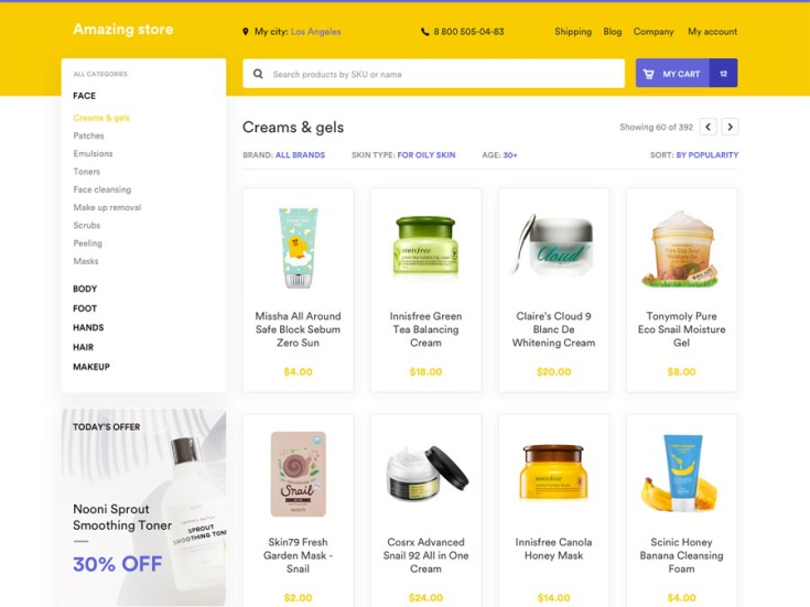 Ecommerce Sketch Web Template