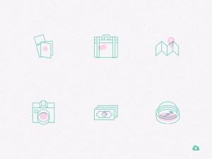 Free Creative Travel Icon Set