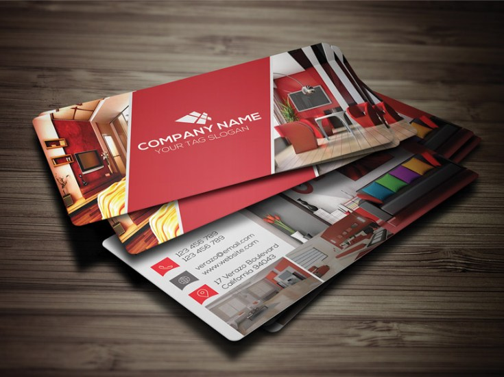 Free Interior Business card Template
