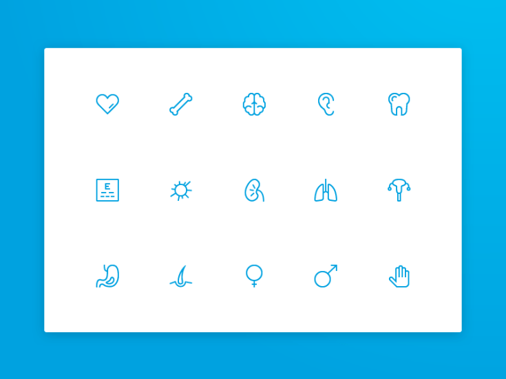 Free Medical Icon Set (Sketch)