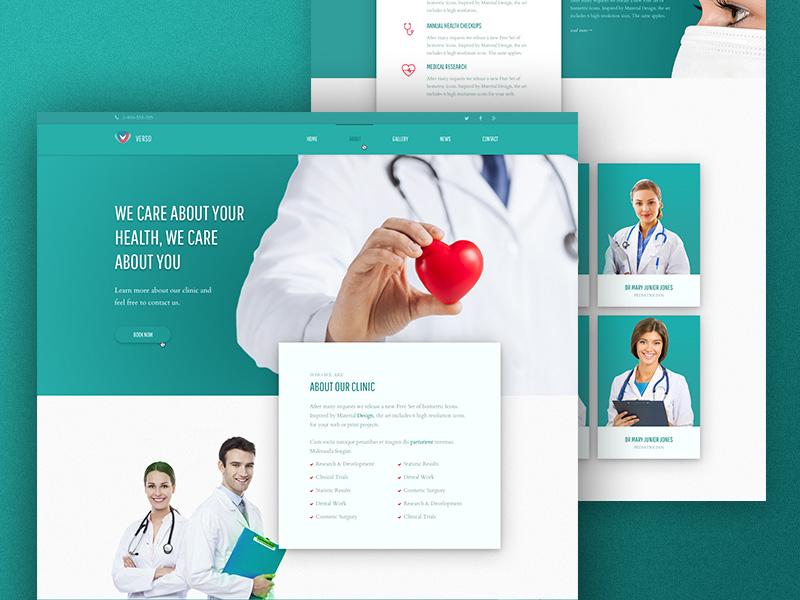 Free Medical Website Template