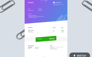 Free Minimal Invoice Template (Sketch)