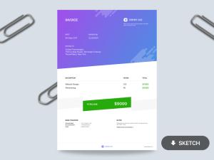 Free Minimal Invoice Template