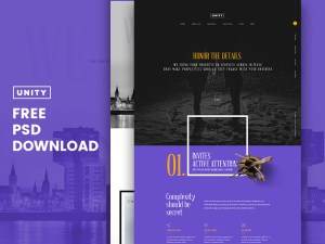 Honor - Free Business PSD Template