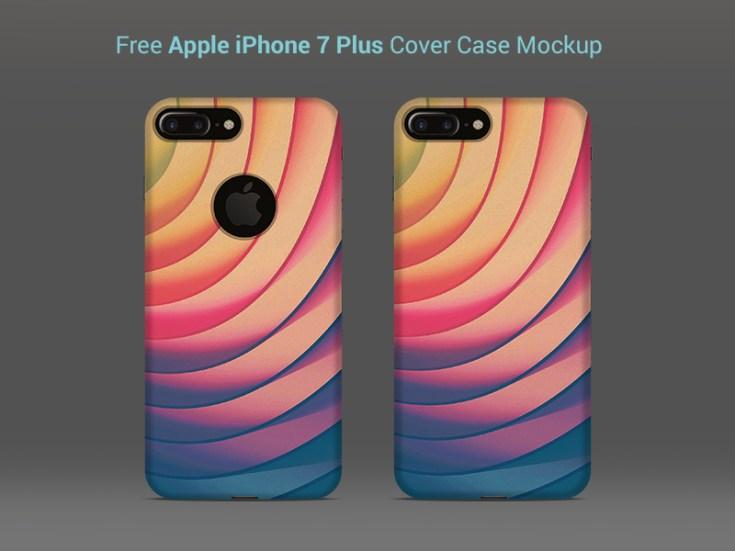 Free iPhone 7 Plus Case Mockup PSD