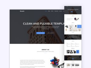 Krunch - Agency Landing Page Template