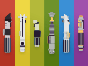 Lightsabers Vectors Template