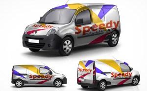 Free Mini Van Mockup PSD