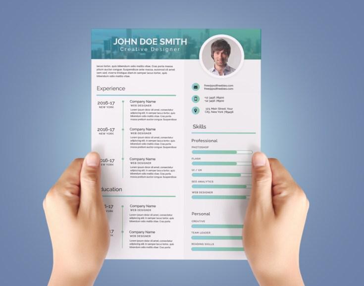 Free Modern CV Template PSD