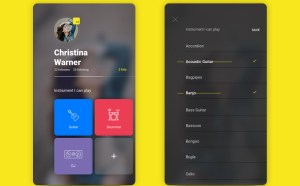 Free Musician Profile UI Screen