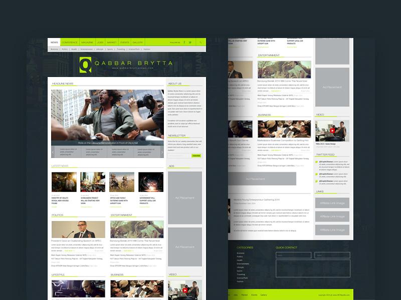 News Portal PSD Website Template