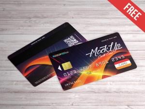 Realistic Credit Card Mockup PSD