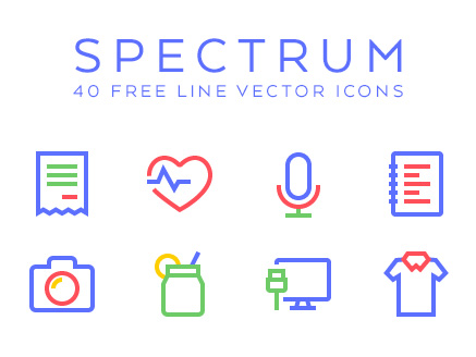 Spectrum : 40 Free Line Vector Icons