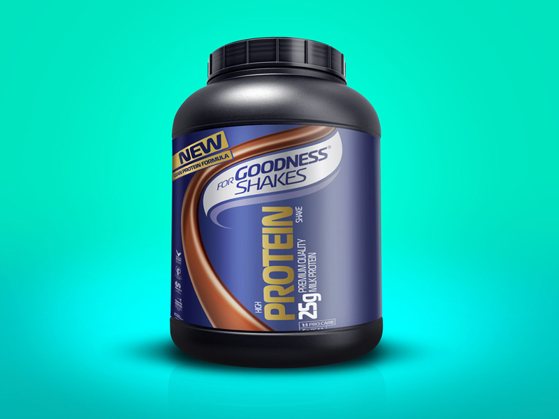 Supplement Bottle Mockup PSD