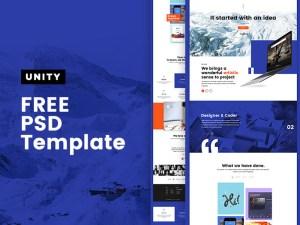 Unity - Free Personal Portfolio PSD Template