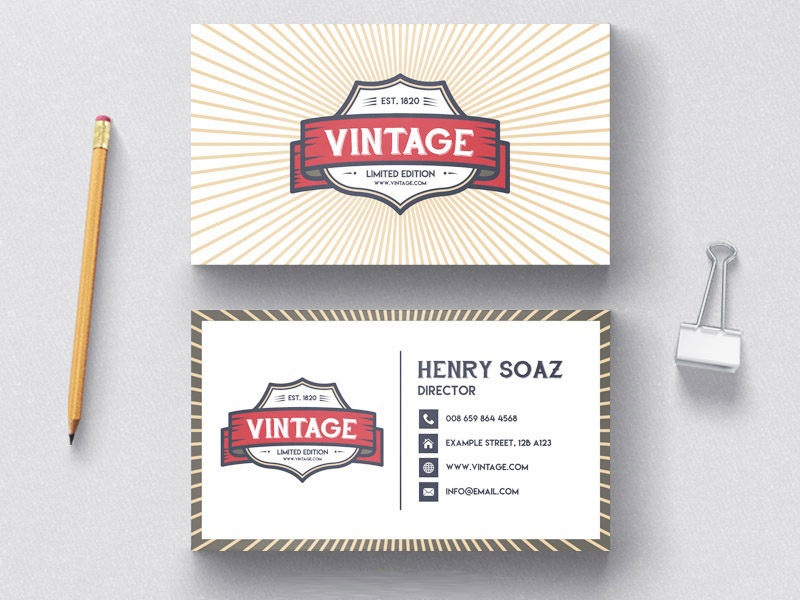 Vintage Business Card