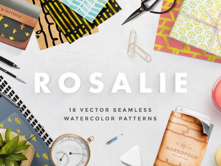 Rosalie - 18 Free Watercolor Patterns