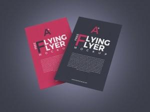 2 Free Flying Flyer Mockup