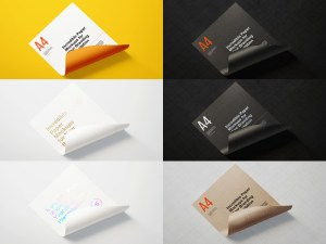 Free A4 Paper/Poster Mockup PSD