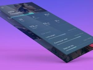Free App Showcase Mockup PSD