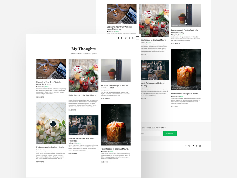 Masonry Blog Template