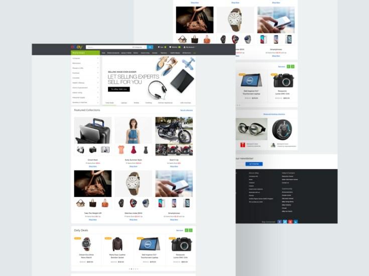 Ebay Website Template
