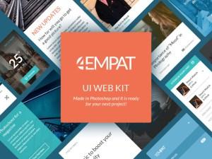 Empat Ecommerce UI Kit PSD