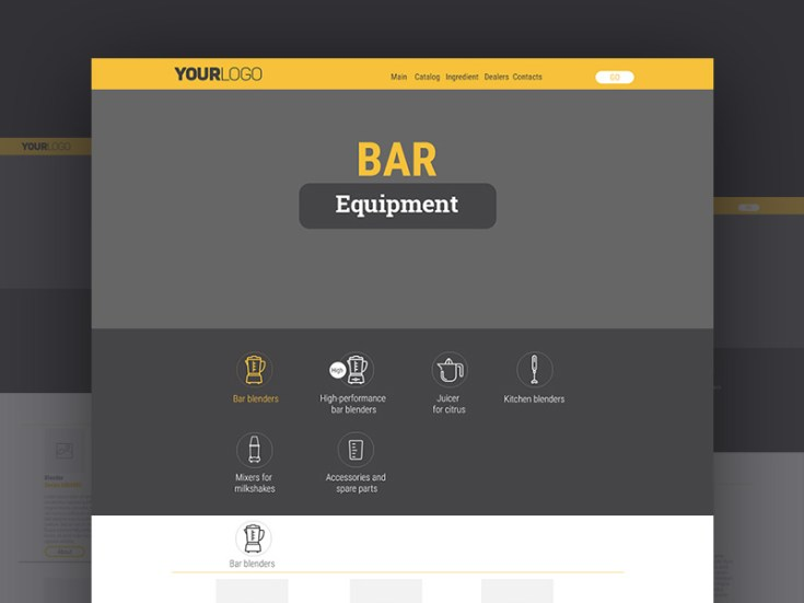 Equipment Website Template