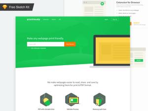 Flat Sketch Landing Page Template