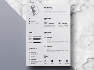 Free Clean Minimal Resume Template