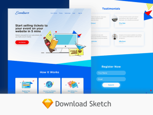 Free Event Website Template (Sketch)