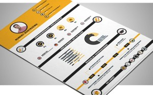 Free Infographic Resume Template (Illustrator)