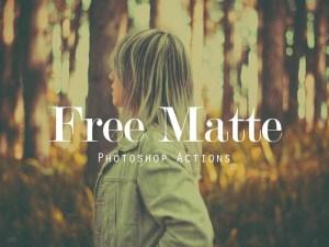 Free Matte Effect Photoshop Action