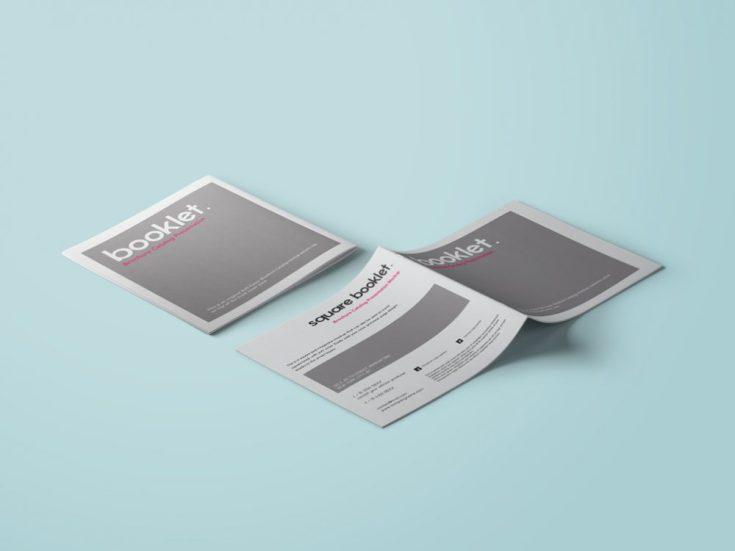 Free Square Booklet Mockup
