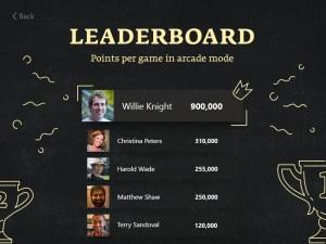 Leaderboard UI Design