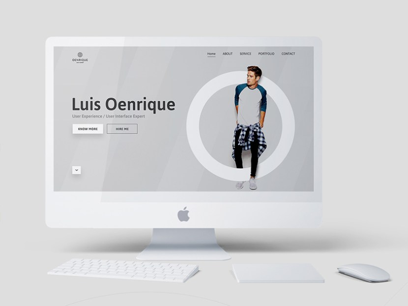 Luis Oenrique – Free Personal Website Template