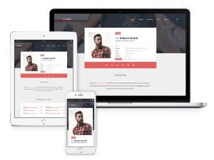 Free Material Resume Website Template