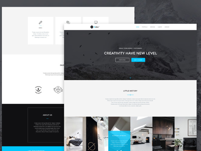 Modus – Free One Page Bootstrap Template