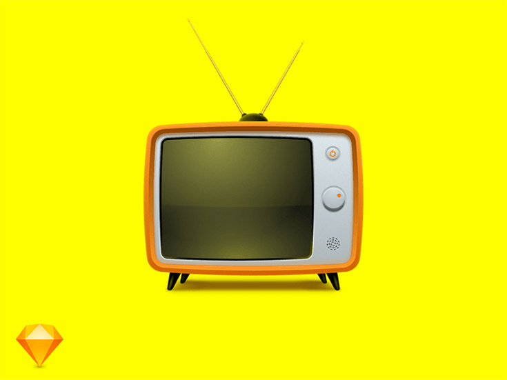 Old TV Illustration