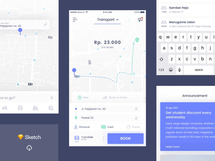 Online Transport App UI