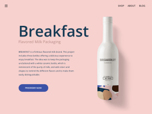 Product Landing Page Sketch Template