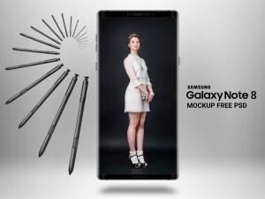 Free Samsung Galaxy Note 8 Mockup