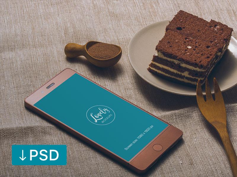Smartphone Mockup on Table