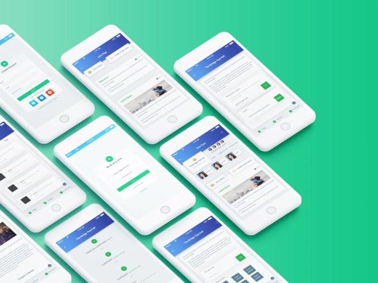 Story Writing App UI PSD