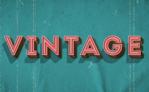 Vintage Effect Text Style