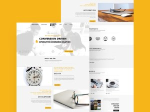 Free White Business Website Template