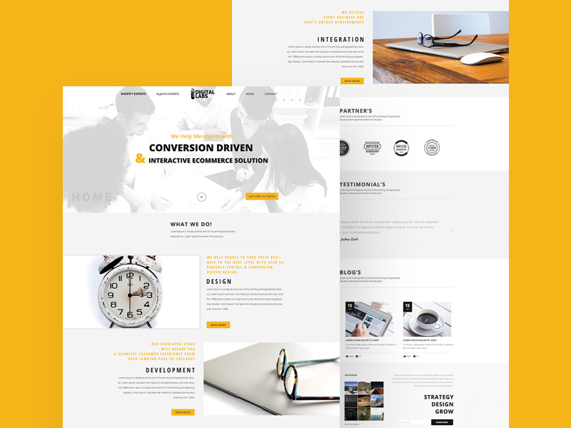 White Business Website Template