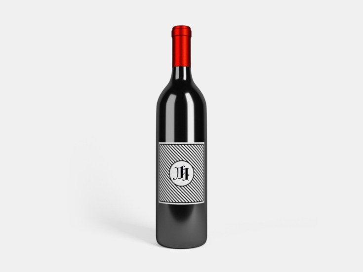 Wine Bottle Mockup made in Blender and Photoshop