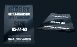 Glossy Poster Mockup PSD
