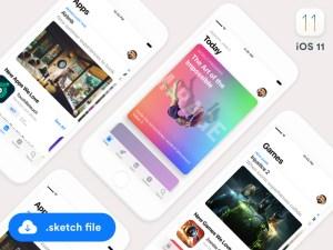 iOS 11 App Store GUI Template